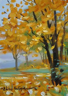 Autumn Forest: Elena Katsyura Look at this method! So simple, even an idiot like me can do it.