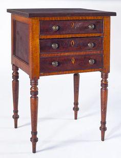 Lot # : 349 - New England Sheraton Work Stand, circa 1820
