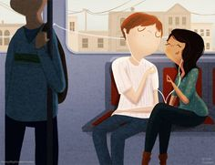 Ilustrações fofas mostram pequenos e simples gestos de amor | Catraca Livre