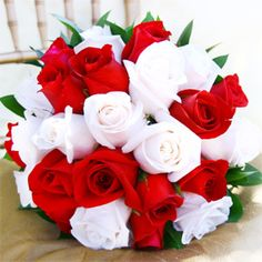 16 best wedding roses images on pinterest bridal bouquets wedding red and white rose bouquet unity harmony and bonding mightylinksfo