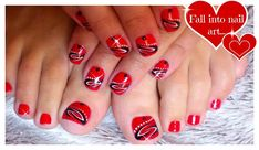 red black white nails manicure - Google Search