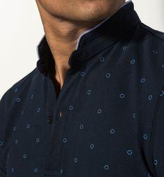 MANDARIN COLLAR PRINTED POLO SHIRT Polo Tee Shirts, Polo Shirt Style, Polo Shirt Outfits, Polo Shirt Design, Polo Design, Polo Rugby Shirt, Polo Outfit, Printed Polo Shirts, Fred Perry Polo