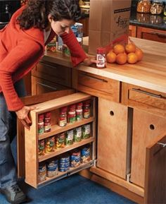 Build Organized Lower Cabinet Rollouts for Increased Kitchen Storage  Add convenient kitchen storage with these simple rollout bins ... step-by-step diy