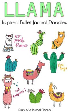 How to draw llamas. Step by step llama doodle tutorial for your bullet journal o… How to draw llamas. Step by step llama doodle tutorial for your bullet journal or sketch book Bullet Journal Tracker, Bullet Journal Themes, Bullet Journal Inspiration, Bullet Journals, Doodle Sketch, Doodle Drawings, Easy Drawings, Simple Doodles, Cute Doodles