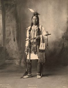 An old photograph of Black Otter - Arapahoe 1898.