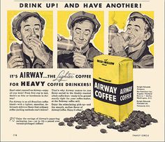 Airway Coffee Ad, c1954 by alsis35, via Flickr