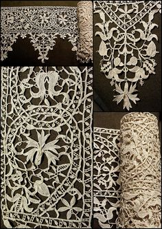 A girl with a serious hard on for textiles. Antique Lace, Vintage Lace, French Vintage, Irish Crochet, Crochet Lace, Russian Crochet, Doilies Crochet, Beaded Beads, Types Of Lace