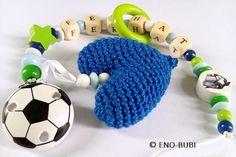 Schnullerketten - Schnullerkette Fussball - ein Designerstück von ENO-BUBI bei DaWanda