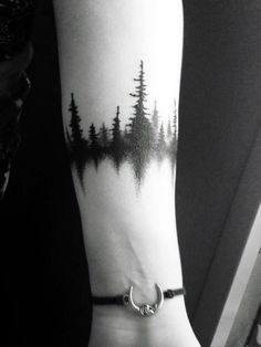 ***beautiful, the water isn't' there but it is clearly implied. like you are approaching a dark dreamland. Also - have more treees behind it, fading into the distance.   Image result for night sky face tattoo