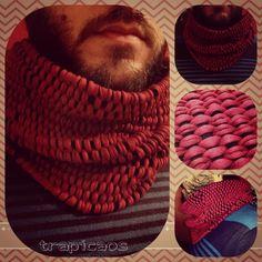 Bufanda de trapillo, crochet XXL