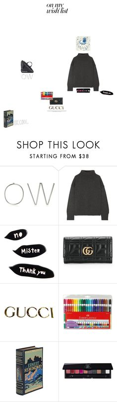 """""""#PolyPresents: Wish List"""" by khadamsribjh ❤ liked on Polyvore featuring Off-White, Mansur Gavriel, Sonia Rykiel, Gucci, Faber-Castell, Hemingway, KEEP ME, Yves Saint Laurent, Balenciaga and contestentry"""