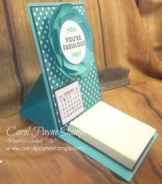 Stampin' Up!, A Whole Lot of Lovely, DIY Crafts, create, handmade Christmas gifts. More info on my blog: http://www.carolpaynestamps.com/2015/11/stampin-up-a-whole-lot-of-lovely-easel-calendar.html