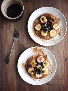 Detox recipe idea: Almond Butter Blueberry-Banana Tortillas. Mmmm.