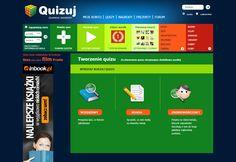 Strona daje możliwość filtrowania quizów wg określonych parametrów- najpopularniejsze, najnowsze itp. Po zarejestrowaniu mamy możliwość stworzenia własnego quizu i zaproszenia znajomych.
