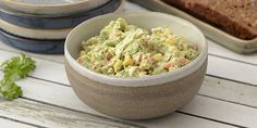 Kold kyllingesalat med avocado Coleslaw, Guacamole, Potato Salad, Mayonnaise, Side Dishes, Picnic, Appetizers, Low Carb, Cooking Recipes