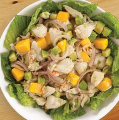 Tuna salad is delicious, but crab salad is even better! Serve Crab Salad with Citrus Dressing on a bed of lettuce leaves or with croissants. Can't go wrong either way.