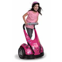 The Child's Motorized Personal Transporter (Pink) - Hammacher Schlemmer Little Girl Toys, Toys For Girls, Gifts For Girls, Little Girls, Baby Girl Toys, Kids Ride On Toys, Kids Toys, Hammacher Schlemmer, Girly