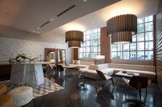 We LOVE the new lobby in Miami's Midtown 4 highrise condo   #saltstudionyc