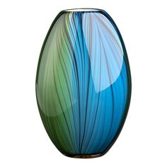 Kitchen: Vase $30 blue/green/black (Crate & Barrel) Loooove this!  Only qualm I have is that I wish it were a wider opening at top.  Oh well!