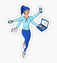 Super Freelance Woman Sticker