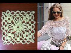 Вязание крючком. Crochet. Квадратный цветочный мотив.2 - YouTube