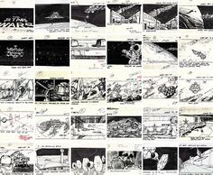 Star Wars Storyboard-Awesome! So much detail to show how the story would unfold. High contrast in black and white.