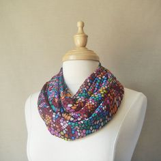 Large Infinity Scarf-Bright Snake Skin Pattern of by fayeslipp