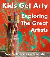 Exploring the great artists - Mondrian inspired craft for toddlers