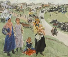 Dame Laura Knight - Gypsies on Epsom Downs, 1938 Social Realism, Knight Art, English Artists, British Artists, Camille Pissarro, Edgar Degas, Edouard Manet, Art Database, Art Uk