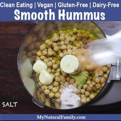 Watch how to make this smooth hummus recipe and see how easy it is to have hummus that taste way better than store-bought and only takes a few minutes to make. Plus, I love how versatile it is. My two favorite ways are as a veggie dip or as a sandwich spread instead of mayo. {Clean Eating, Vegan, Gluten-Free, Dairy-Free} Clean Eating Hummus, Cheap Clean Eating, Clean Eating Recipes, Clean Eating Snacks, Healthy Recipe Videos, Healthy Recipes, Beef Recipes, Real Food Recipes, Dairy Free Recipes