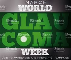 Design for Glaucoma Week with Blindness due this Ocular Disease