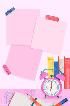 Blank pink back to school frame vector | premium image by rawpixel.com / Toon Powerpoint Background Design, Poster Background Design, Cute Wallpaper Backgrounds, Cute Wallpapers, Blank Pink, Bg Design, Note Doodles, Doodle Frames, Instagram Frame Template