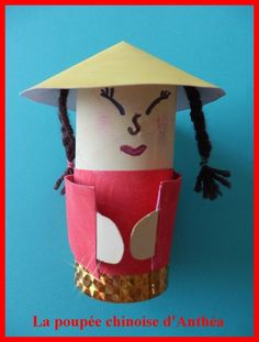 poupée chinoise | ASSISTANTE MATERNELLE AGREEE A SAULCHERY 02310 New Year's Crafts, Crafts For Kids, Arts And Crafts, Chinese New Year Crafts, China Art, China China, Toilet Paper Roll Crafts, Diy Paper, World Crafts