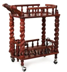 Handmade Wooden Kitchen Cart in fine quality Rosewood. Wooden Kitchen Cart in Sheesham Hand-carved by skilled artisans with beautiful floral design Serving Trolley, Kitchen Trolley, Wooden Kitchen, Handmade Wooden, Hand Carved, Floral Design, Armchair, Artisan, Carving