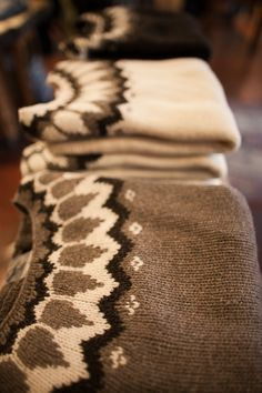 LOVE this take on the Icelandic sweater pattern!