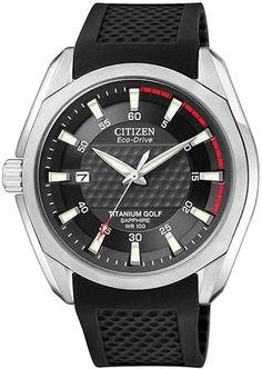 BM7120-01E - Authorized Citizen watch dealer - Mens Citizen Eco-Drive Titanium Golf, Citizen watch, Citizen watches