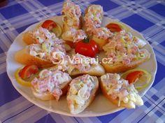 Pórková pomazánka recept - fotografie - Vareni.cz Potato Salad, Shrimp, Potatoes, Ethnic Recipes, Food, Eten, Potato, Meals, Diet