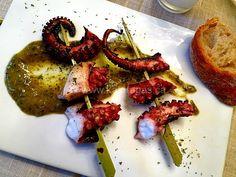 Octopus Souvlaki Meze With Greek-Style Chimichurri