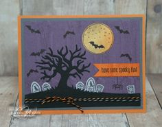 Here's a card using my top Halloween picks from the new Holiday Catalog...      The first Halloween stamp set that jumped out at me is the G...