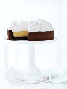 ... lemon meringue chocolate cake ...