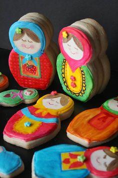 Nesting doll cookies by Munchkin Munchies