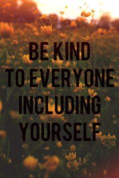 especially yourself