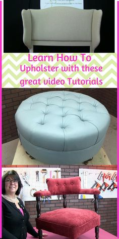 Start learning today with these great tutorials. Clear explanation and close up detail shots will have you upholstering in no time.