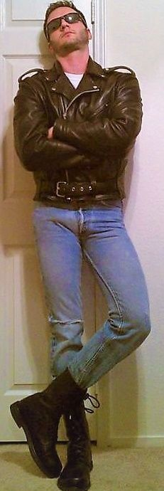 Men/'s Leather Trouser Dirty Brown Lambskin Leather Jean Motorcycle Style 501