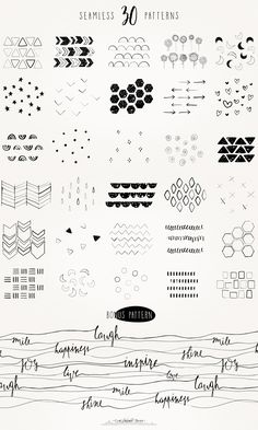 "The ""Draw It Yourself"" Collection The ""Draw It Yourself"" collection contains 30 seamless patterns all created with real ink pens and pipettes strokes which have been vectorized. They will give a nice hand-drawn feeling to any of your designs. Each pattern is vector-based and carefully created to make a seamless pattern. They come in a ... read more"