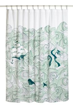 Most-Pinned Items - Swell Acquainted Shower Curtain