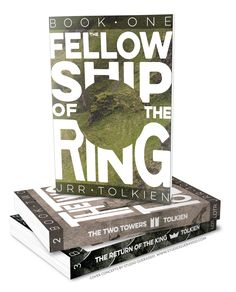 Type-and-texture based covers for The Lord of the Rings trilogy. #bookcover #coverart #LOTR #LordoftheRings #type #texture #coverdesign