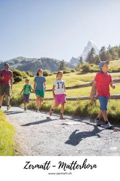 "Zermatt – Matterhorn: ""Families are Welcome"": Since 2013, the destination Zermatt – Matterhorn has been awarded this Seal of Quality. Not only our mascot Wolli is happy about this but also all young guests and families. Variety, fun and a lot of movement are officially declared. And everything in healthful Alpine air. #Zermatt #Matterhorn Family Ski Holidays, Family Day, Zermatt, Switzerland Destinations, Family Holiday Destinations, Broken Families, Family Resorts, Family Activities, Alps"