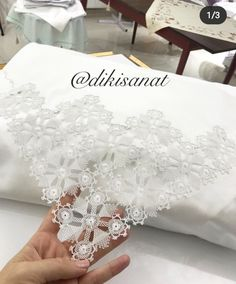 Needle Lace, Elegant Table, Embroidery, Crochet, Model, Home Decor, Instagram, Pearl Embroidery, Binder