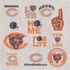 This item is a digital item which you can use the file to apply on shirts, decals, stickers,mugs,. It will come in a zip file Chicago Bears Shirts, Nfl Chicago Bears, Chicago Football, Football Team Logos, Bears Football, Nfl Championships, Bear Logo, Vinyl Crafts, Cs Go